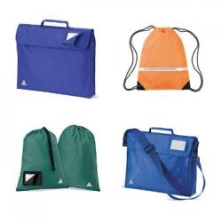 Quadra school bags - printed and personalised