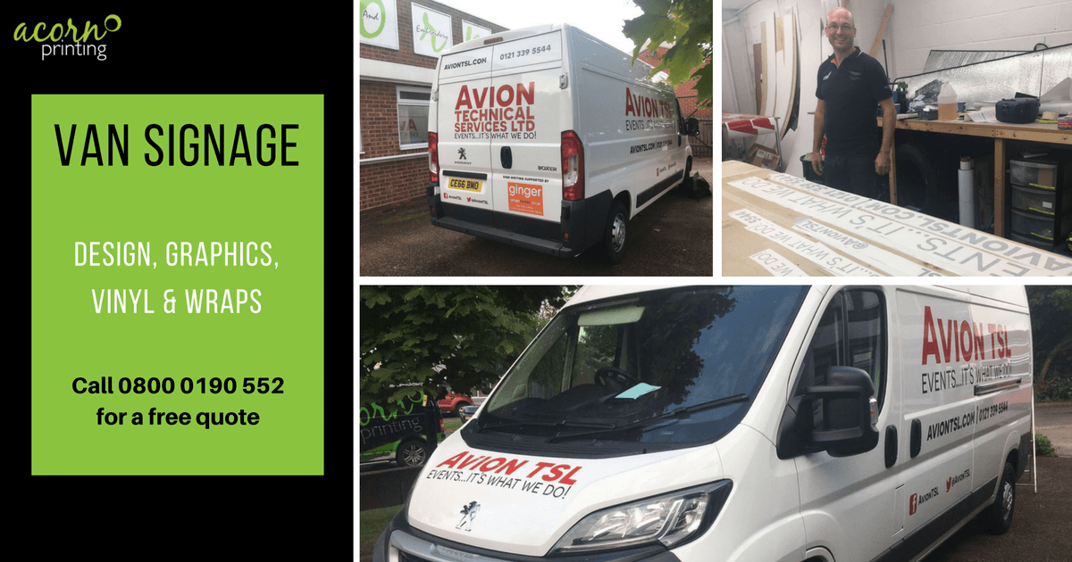 van signage. vehicle graphics, vinyls and wraps in Coventry