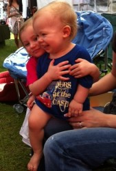 "Young Dubs fan with event t-shirt - ""Dubs at the Castle""2012"