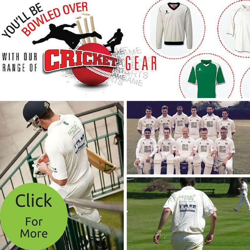 custom cricket kit - prin and embroidery from Acorn printing