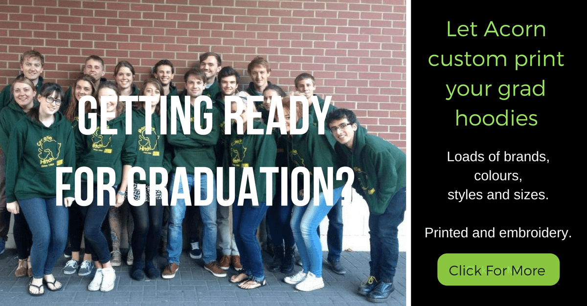 Customised graduation clothing - Hoodies, T-shirts and Polo Shirts