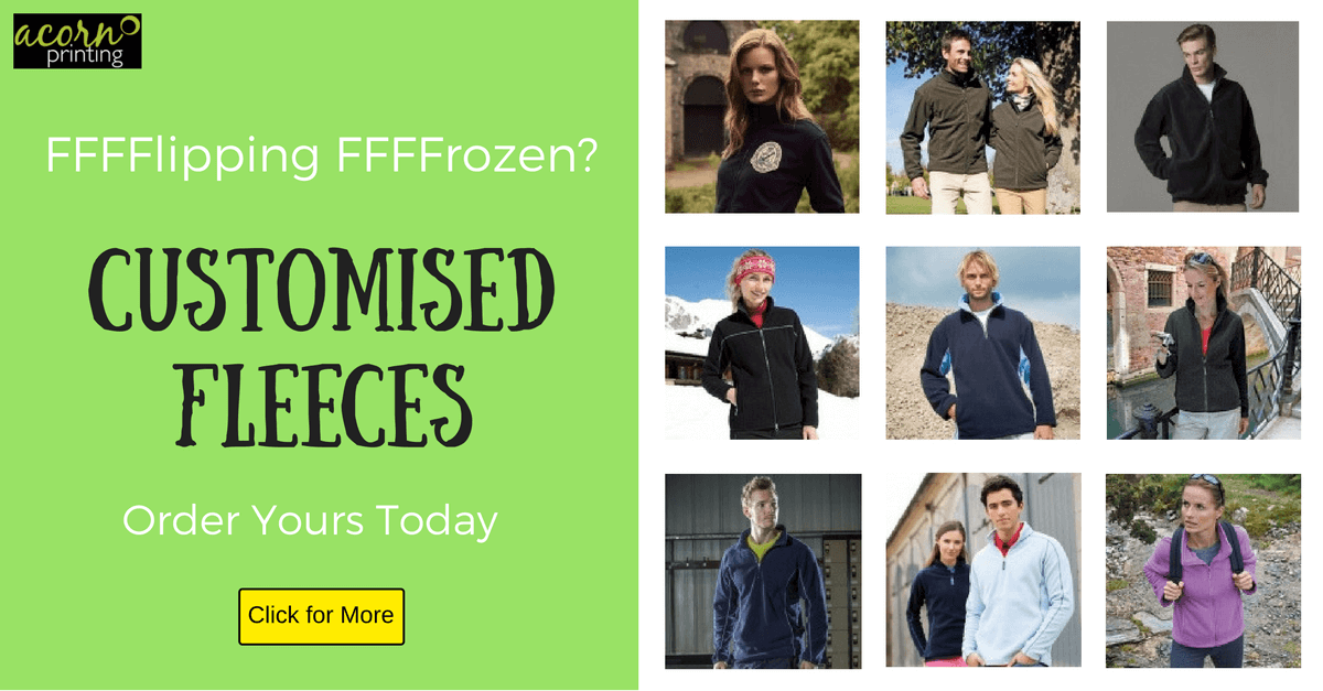Custom embroidered fleeces and gilets to keep you warm