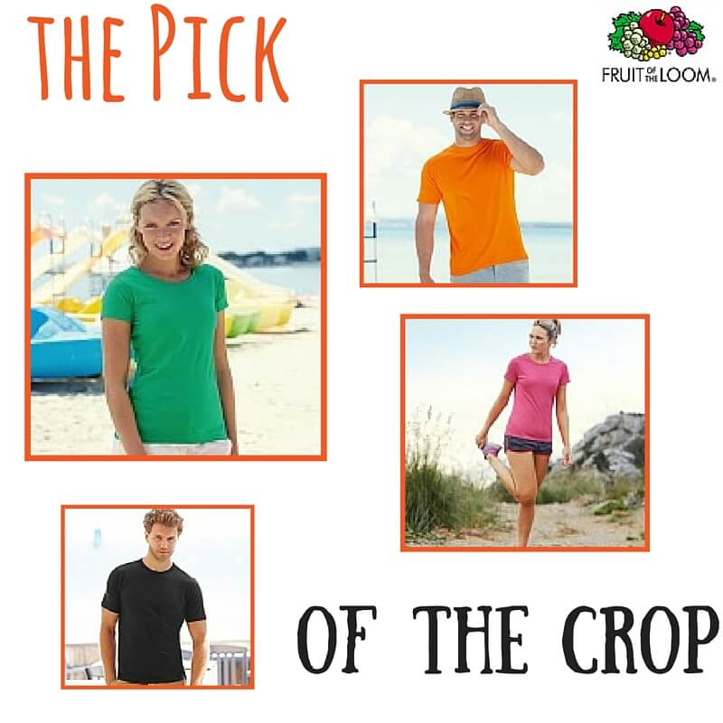 fruit of the loom printed t-shirts