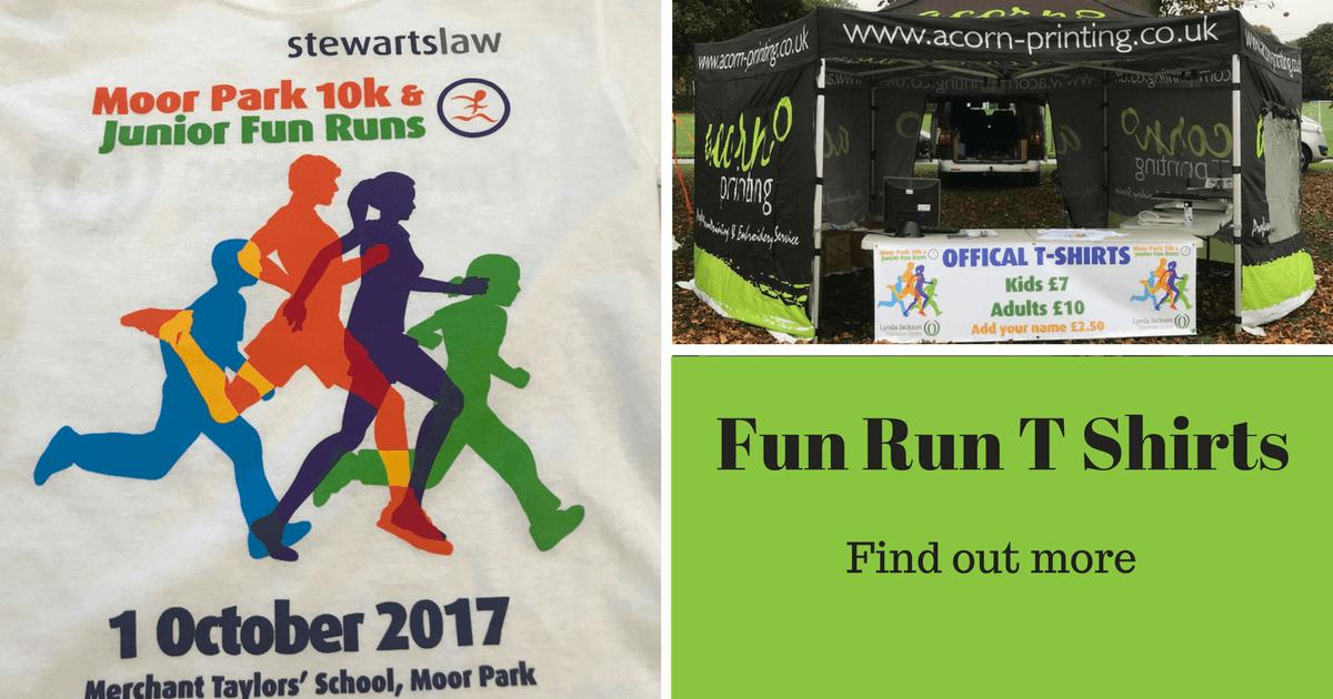 fun run tshirts for moor park