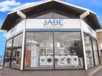 Jade Technology's Warwick store displaying window signage created by Acorn Printing