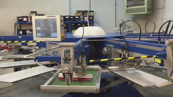 mhm e-type screen printer for fast personalised garment printing