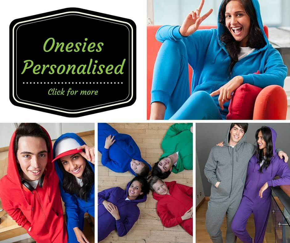 personalised onesies printed and embroidered