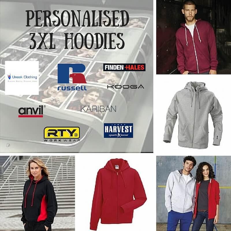 personalised 3xl large hoodies