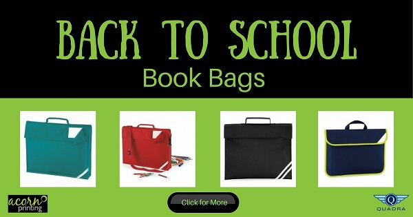 personalised printed book bags for back to school