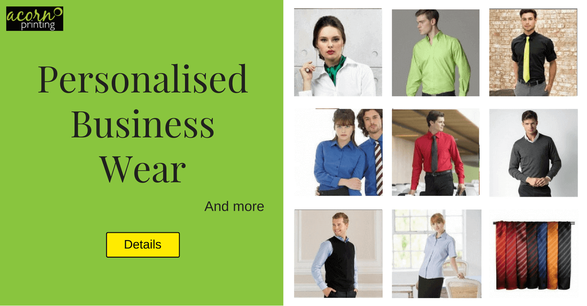personalised business wear