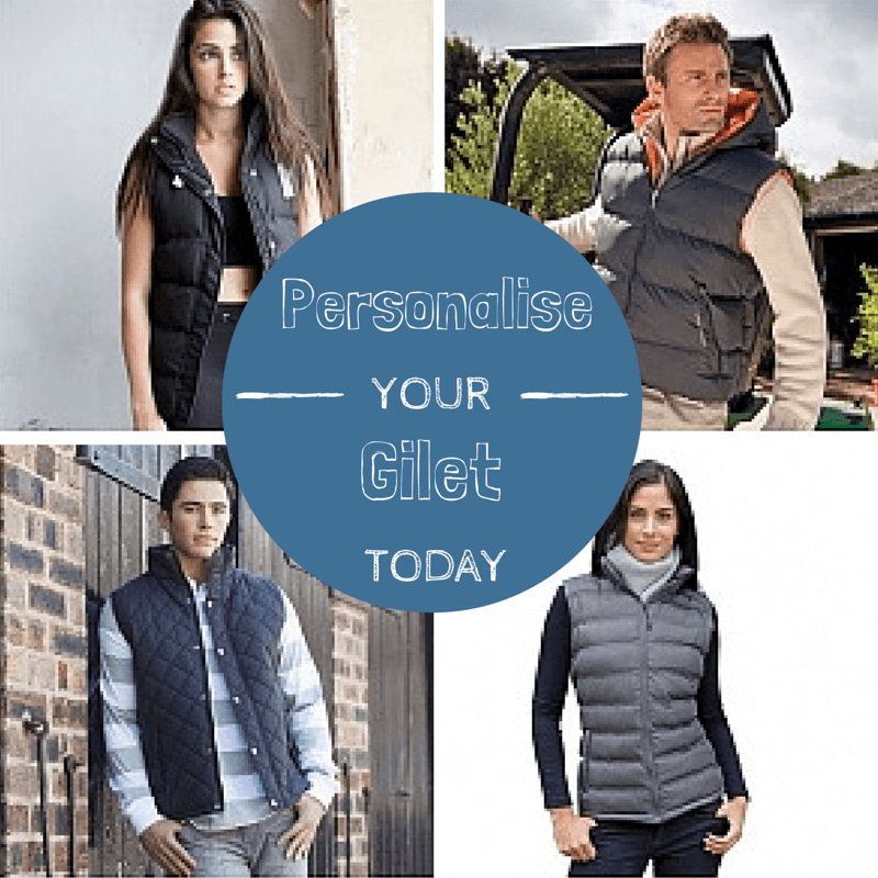 Acorn has a wide range of gilets ready to personalise with beautiful embroidery