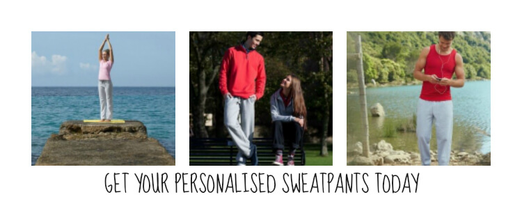 personalised sweatpants printed and embroidered