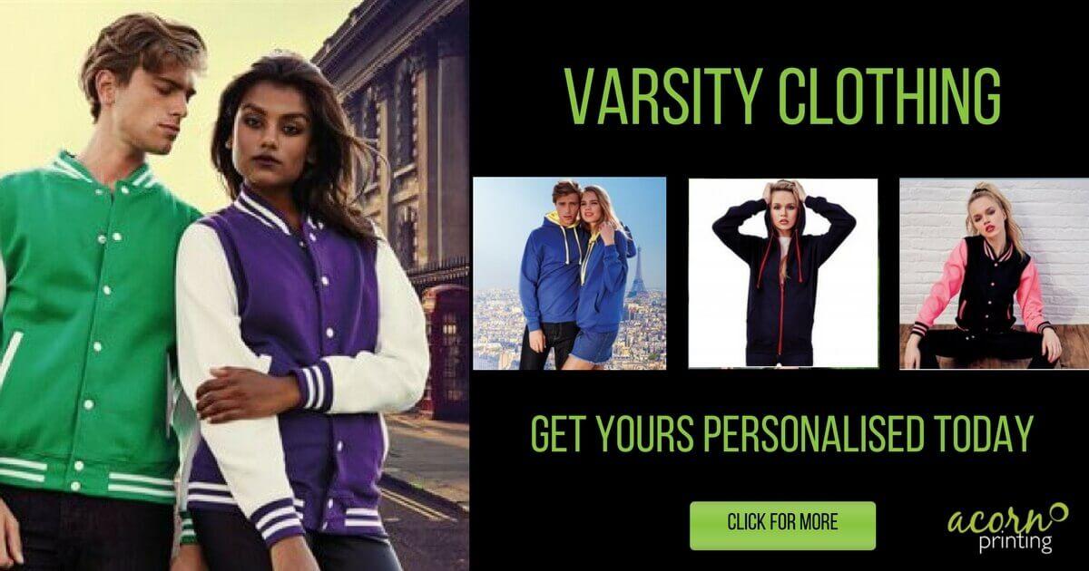 personalised varsity clothing