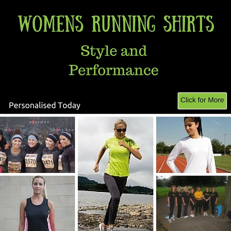 Personalised running shirts for women