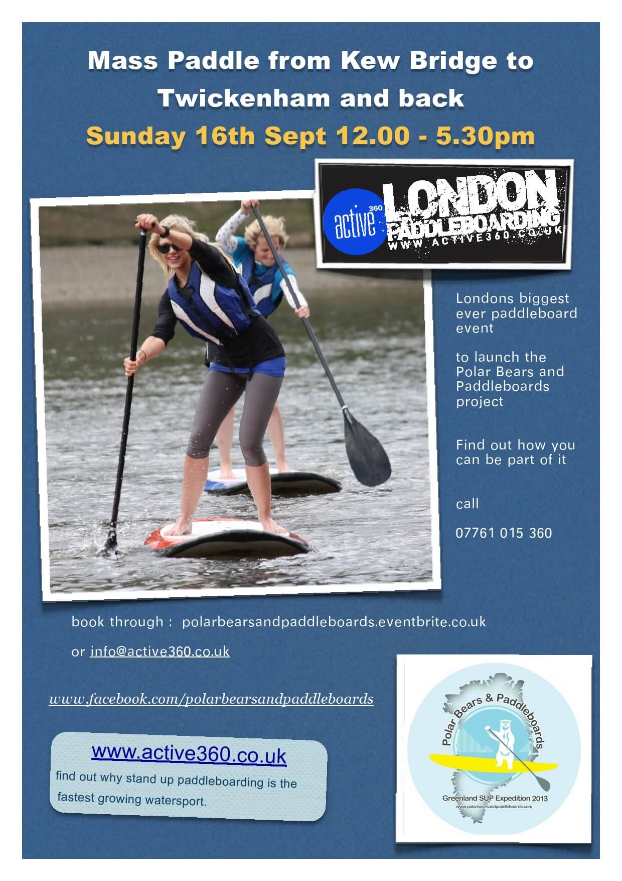 "Acorn is supporting charity fundraiser Justin Miles as he launches ""polar bears and paddleboards"""