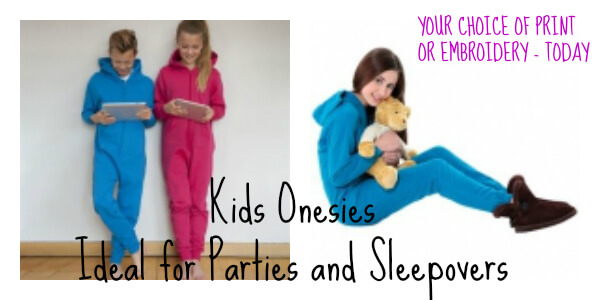 printed onesies for kids. Ideal for parties and sleepovers