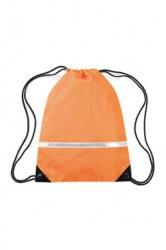 Quadra hi viz gymsac bag has a choice of fluorescent orange or yellow