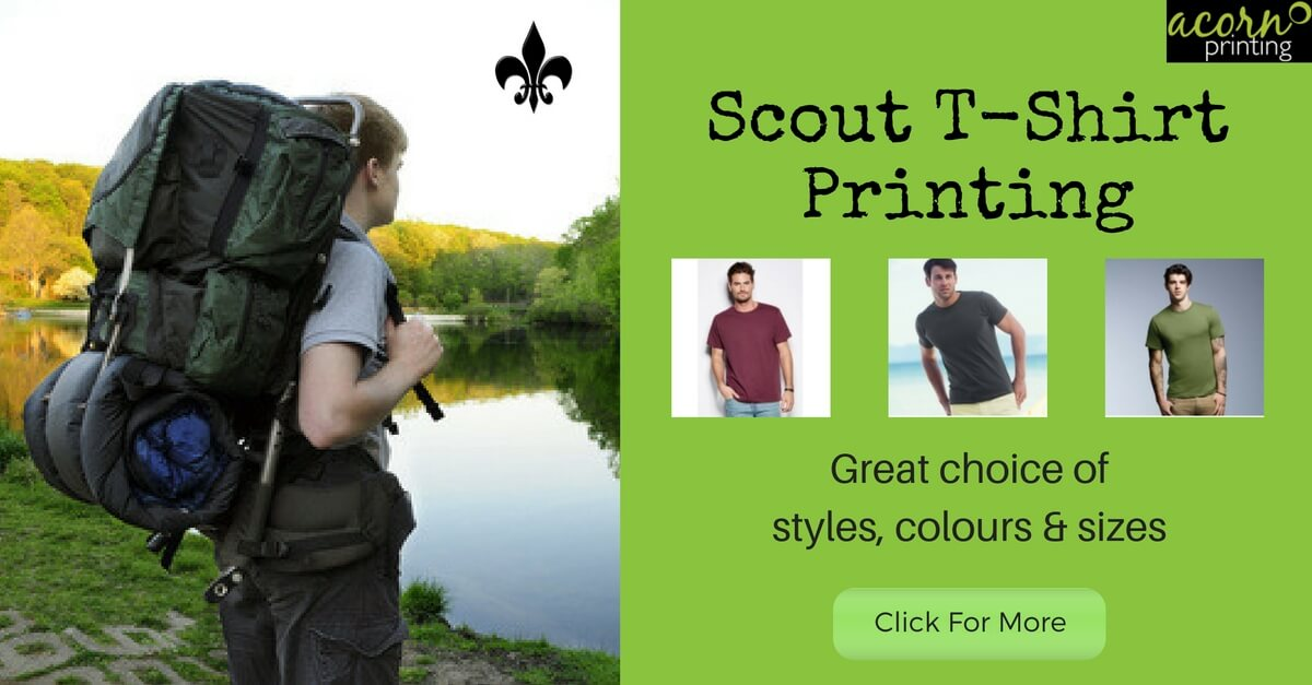 scout t-shirt printing and personalisation