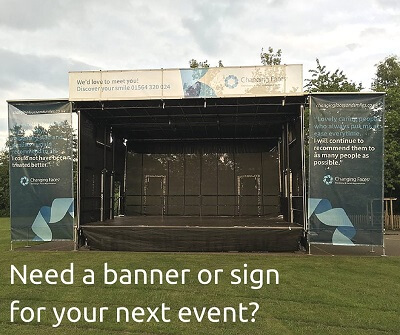 scrim banners printed in colour for your next event