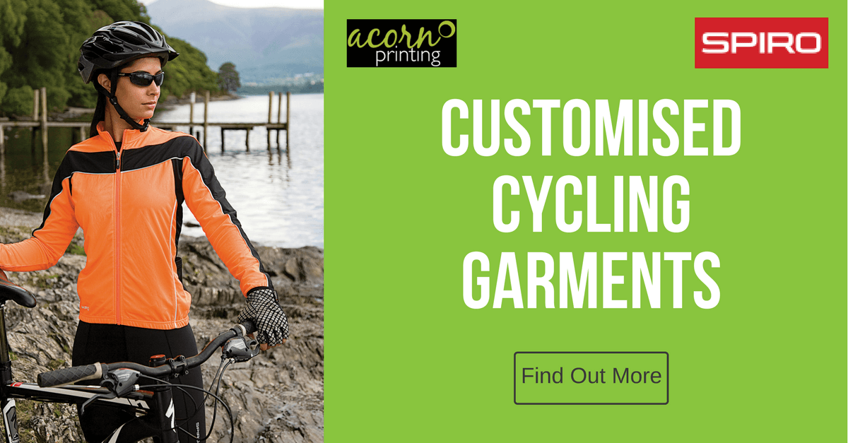 Customised cycling clothing. Spiro sportswear ready to print or embroider