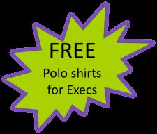 Student execs free polo shirt