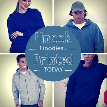Personalised Uneek hoodies
