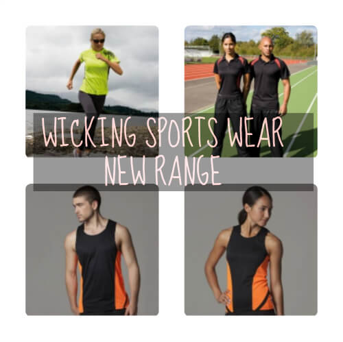 wicking t-shirts, vests and polo shirts - personalise today